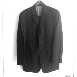 Black striped Calvin Klein 2 pc suit, barely worn.